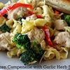 Chicken Campenelle with Garlic Herb Sauce