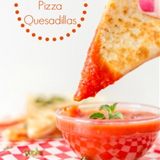 Pepperoni Pizza Quesadillas #15MinuteSuppers - Around My Family Table