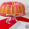 Valentine Bundt Cake with Cherry Vanilla Frosting
