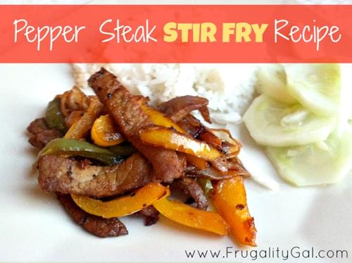 Easy Pepper Steak Stir Fry