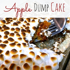 Marshmallow Apple Pie Spice Dump Cake