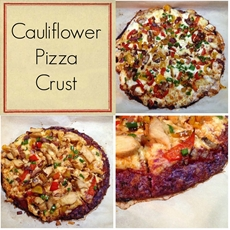 My Eating Clean Journey: Purple Cauliflower Pizza Crust