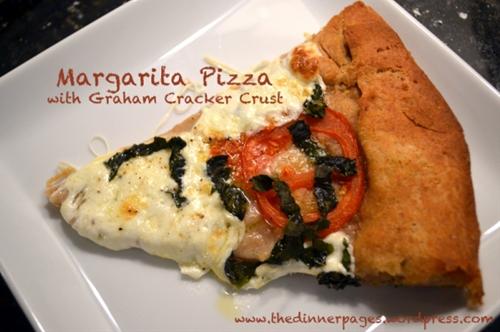 margarita pizza with graham cracker crust