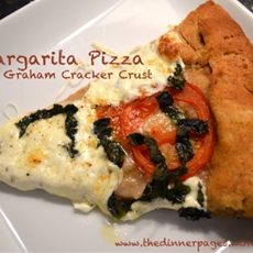 margarita pizza with graham cracker crust