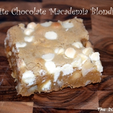 White Chocolate Macademia Blondies