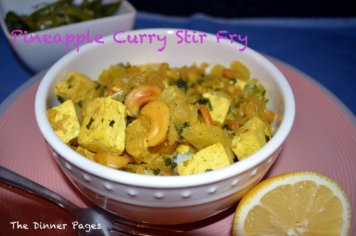 Pineapple Curry Stir Fry