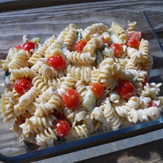 Joanne's world famous tuna pasta salad