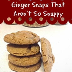 Not so Snappy Ginger Snaps