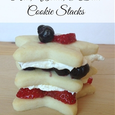 Red, White, & Blue Star Cookies