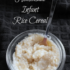 Homemade Rice Cereal