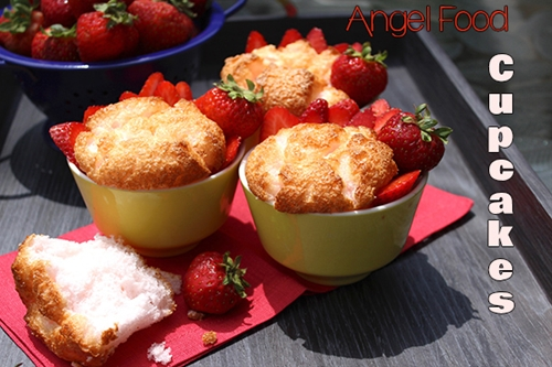 Easy Angel Food Cupcake