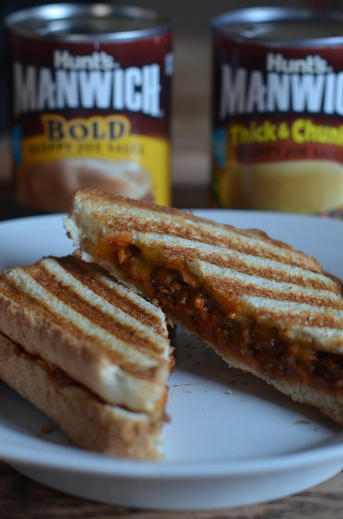 Sloppy Joe Panini Sandwich With #Manwich
