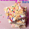 No bake birthday cake bars