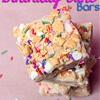No bake birthday cake bars