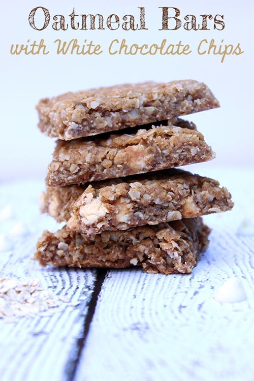 oatmeal bars with white chocolate chips recipe