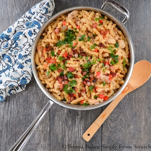 Creamy Bacon Chicken and Pasta Skillet