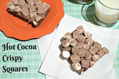 Hot cocoa crispysquares