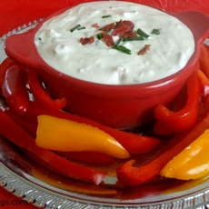 Bacon blue cheese dip