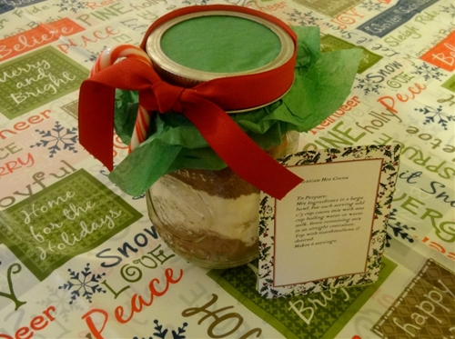 mexican hot cocoa in a jar gift
