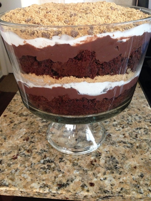Smores Chocolate Trifle