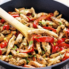 20-Minute Skillet Chicken Fajitas