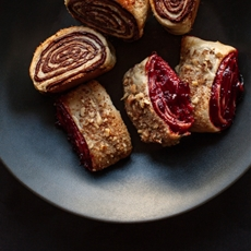 Sour cherry and semi-sweet chocolate rugelach
