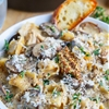 Creamy Asiago Chicken and Mushroom Tortellini Soup on Closet Cooking