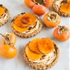 Brûléed Persimmon Tarts with Maple Cinnamon Cream Cheese