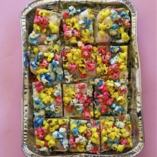 Unicorn Popcorn Rocky Road for Popcorn Week!