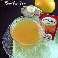 this and that: ginger lemon rooibos tea