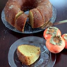 Persimmon Pear Spice Bundt Cake
