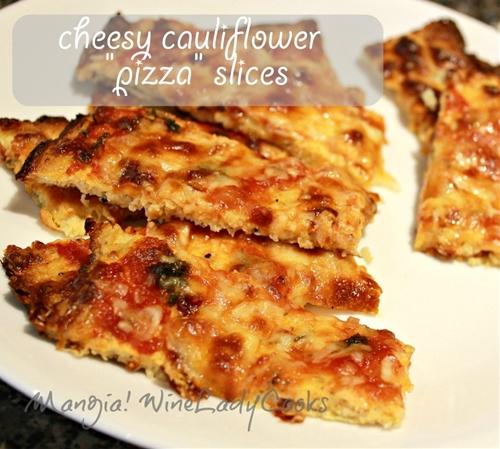 Cheesy Cauliflower Bread And Pizza Slices