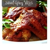 Baked spicy buffalo wings