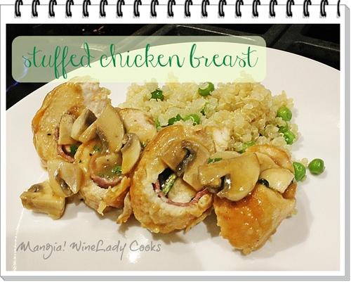 Stuffed Chicken Breast with Mushroom Gravy