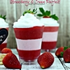 Sweet Valentines Day treat Strawberry & Cream Parfait