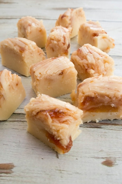 Apricot Raspberry Cheesecake Fudge