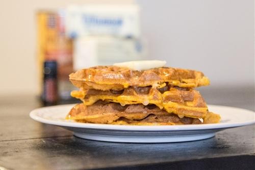 Pumpkin Cinnamon Waffles