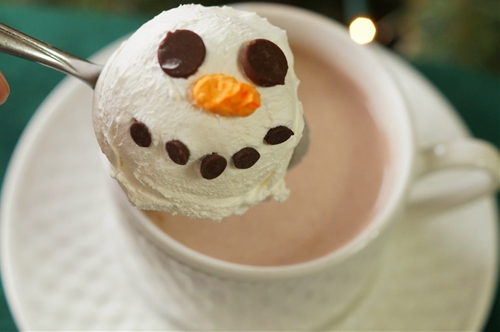 Melting Snowman Hot Cocoa Toppers