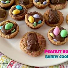 Peanut butter bunny and easter cookies