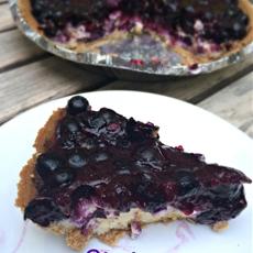 Shortcut Blueberry Cheesecake Pie