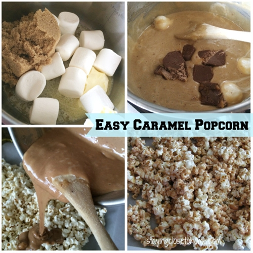 Easy Caramel Popcorn --no bake