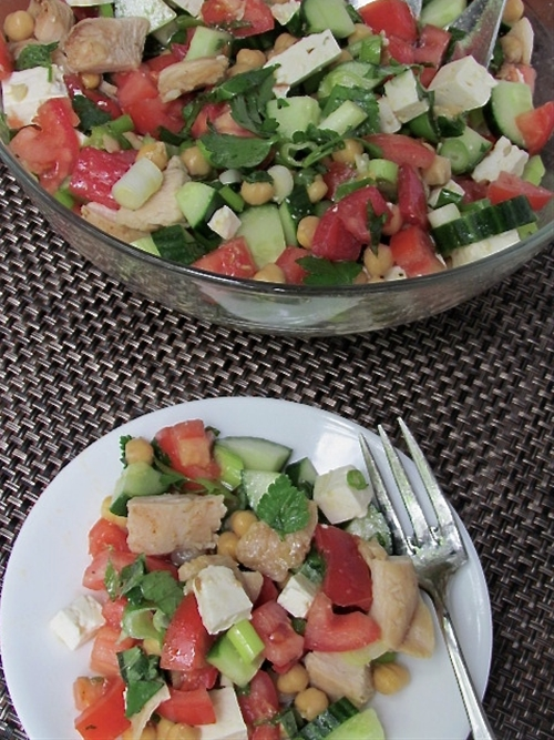 Easy Grilled Meditteranean Chicken Salad