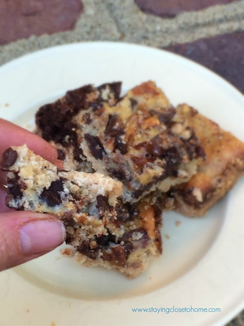 Super Easy Chocolate Chip Bars