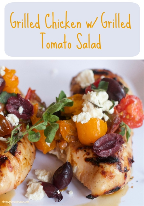 Grilled chicken breast with Grilled Tomato salsa