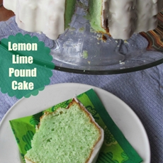 St. Patrick Day Dessert, Lemon Lime Pound cake