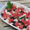 Watermelon Blueberry feta  Fruit Salad