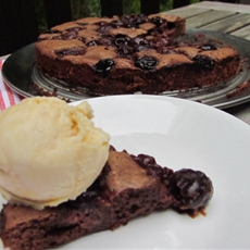 Gluten-free cake- Decadent Cherry Chocolate Cake