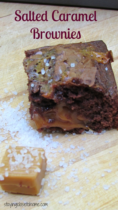 Easy Salted Caramel Brownies