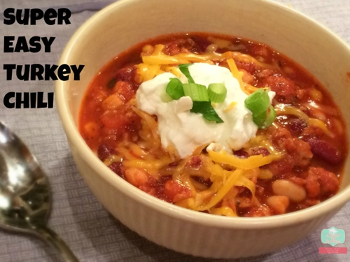 Super easy turkey chili recipe