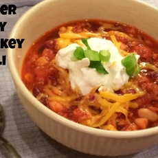 Super easy turkey chili recipe